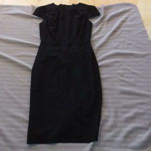 Club Monaco black dress with ribbon detail